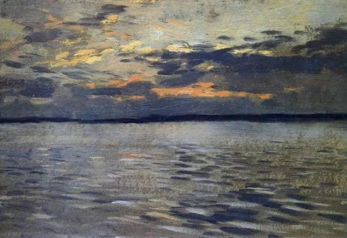 """""""情绪风景""""画家 俄罗斯列维坦(1860-1900)插图39"""