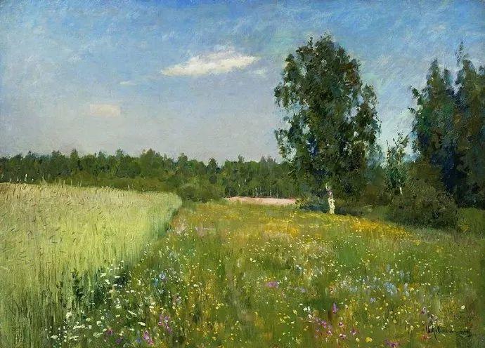 """""""情绪风景""""画家 俄罗斯列维坦(1860-1900)插图41"""