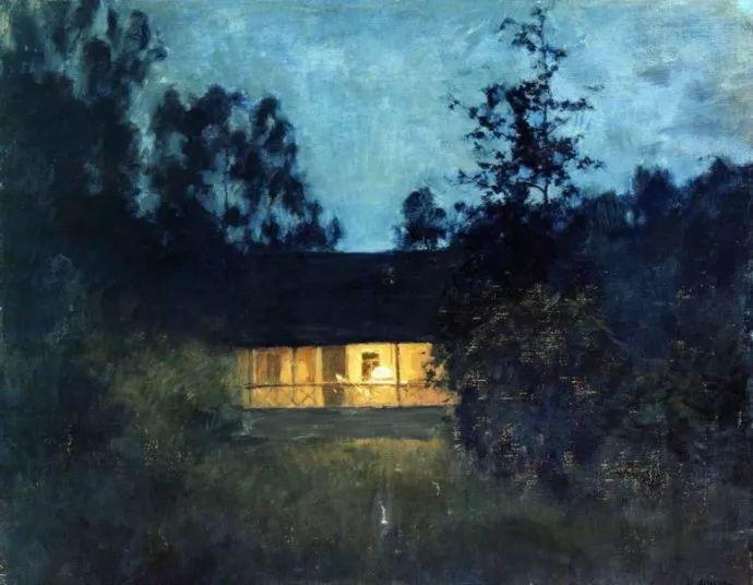 """""""情绪风景""""画家 俄罗斯列维坦(1860-1900)插图43"""