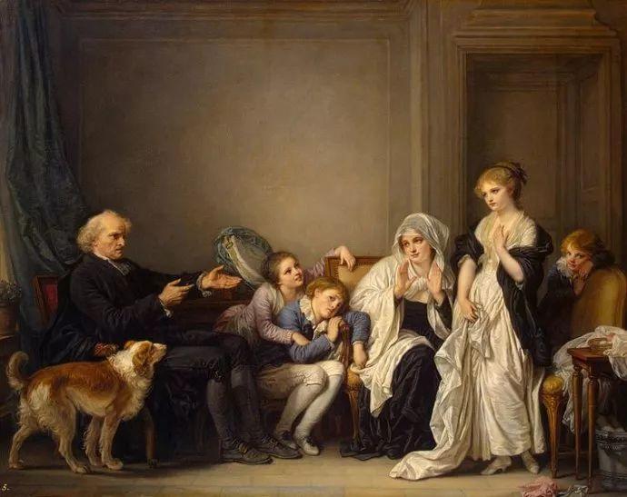 18世纪肖像画新风格 法国画家格勒兹(1725-1805)插图8
