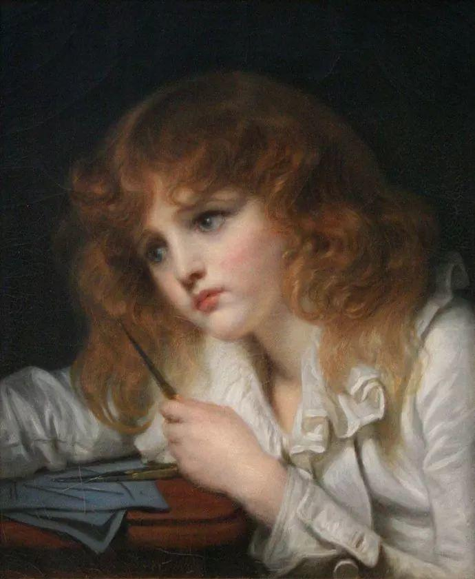 18世纪肖像画新风格 法国画家格勒兹(1725-1805)插图19
