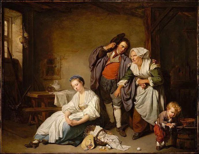 18世纪肖像画新风格 法国画家格勒兹(1725-1805)插图21