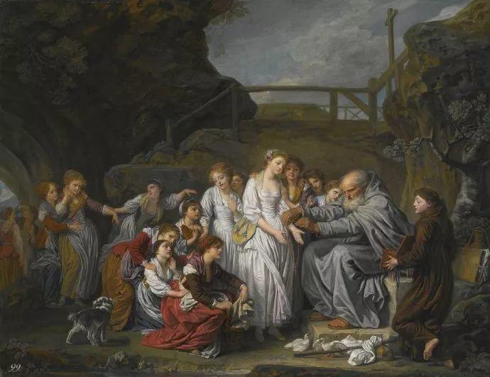 18世纪肖像画新风格 法国画家格勒兹(1725-1805)插图32