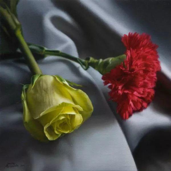 花卉写实 法国Javier Arizabalo作品插图5