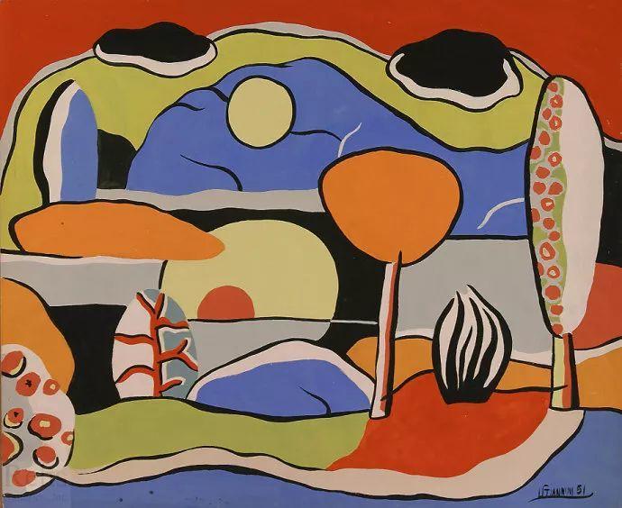 抽象作品 美国画家Ugo Omleto Giannini(1919-1993)插图5