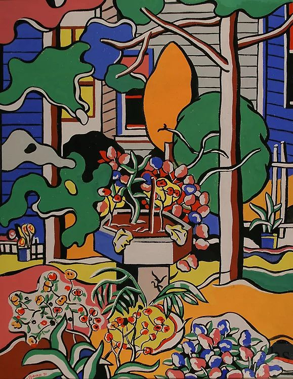 抽象作品 美国画家Ugo Omleto Giannini(1919-1993)插图9
