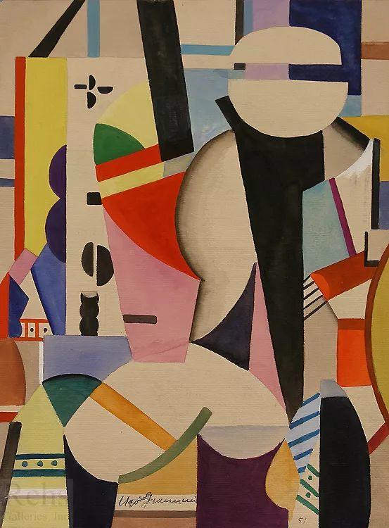 抽象作品 美国画家Ugo Omleto Giannini(1919-1993)插图15