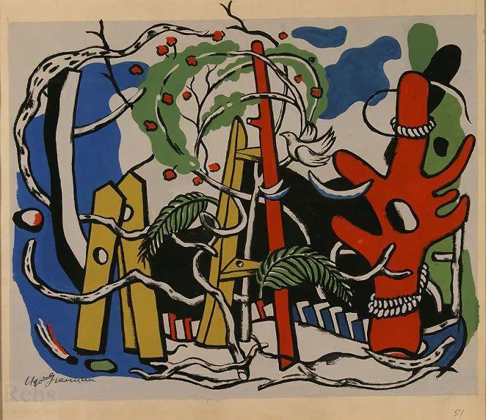 抽象作品 美国画家Ugo Omleto Giannini(1919-1993)插图17