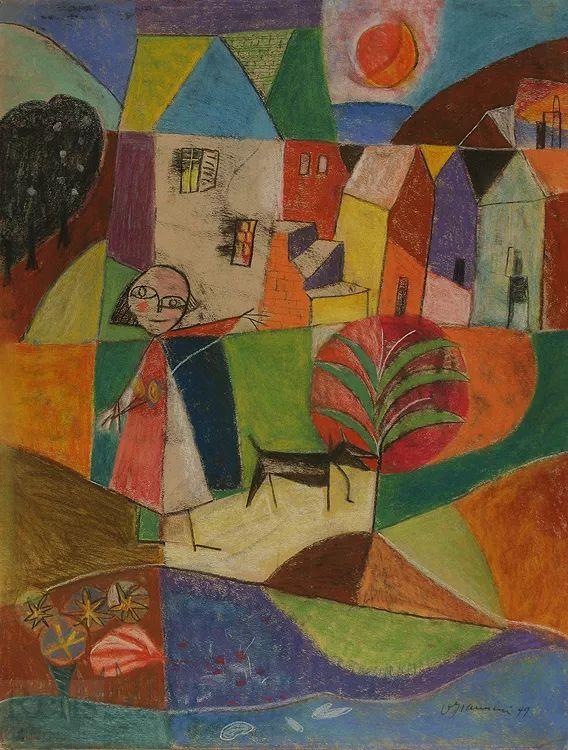 抽象作品 美国画家Ugo Omleto Giannini(1919-1993)插图19