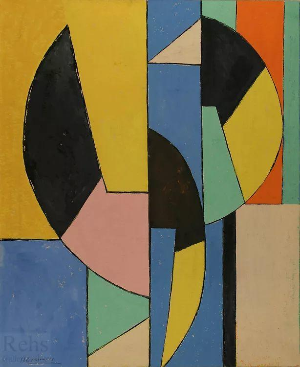 抽象作品 美国画家Ugo Omleto Giannini(1919-1993)插图21