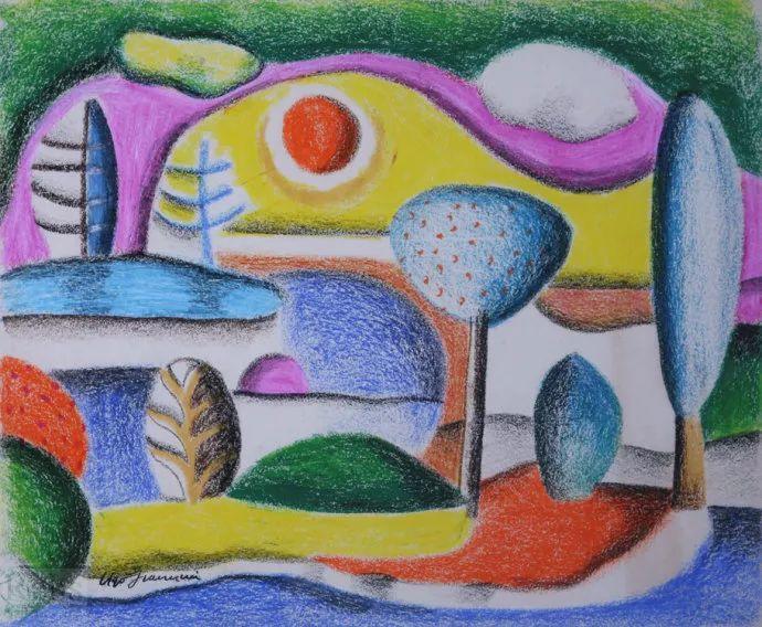 抽象作品 美国画家Ugo Omleto Giannini(1919-1993)插图23