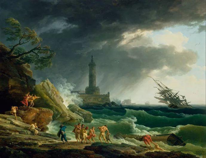 作品气势恢宏 法国18世纪风景画家韦尔内(1714-1789)插图1