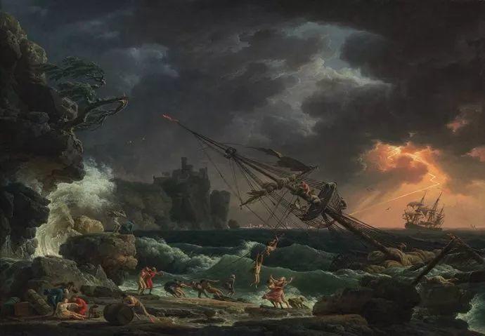 作品气势恢宏 法国18世纪风景画家韦尔内(1714-1789)插图5