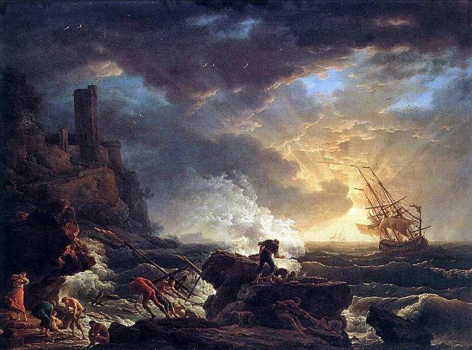 作品气势恢宏 法国18世纪风景画家韦尔内(1714-1789)插图17