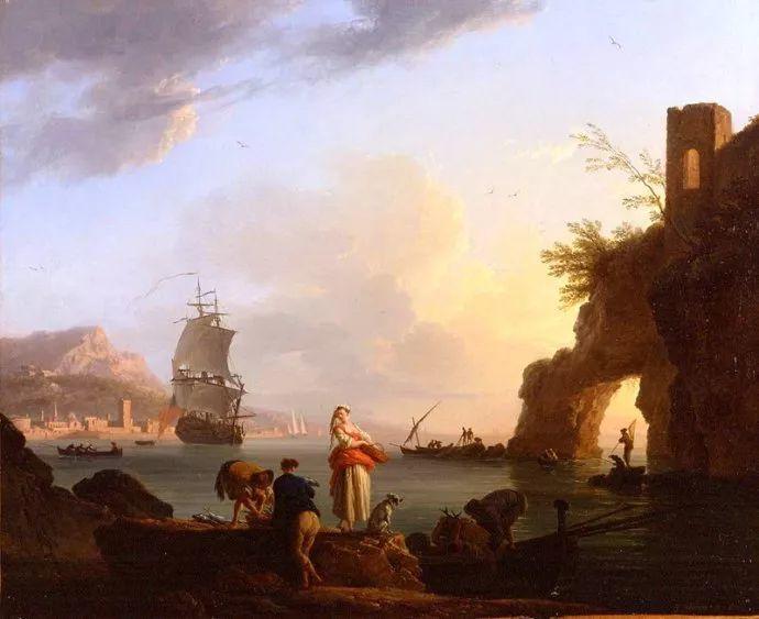 作品气势恢宏 法国18世纪风景画家韦尔内(1714-1789)插图31