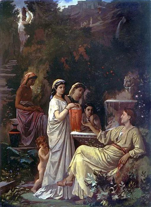 德国罗马派的著名代表人物安塞姆·费尔巴哈(1829-1880)插图49