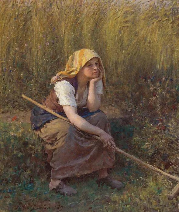 梵高走了85英里专门去拜访他 法国布雷顿(1827-1906)插图1