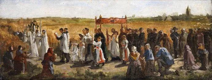 梵高走了85英里专门去拜访他 法国布雷顿(1827-1906)插图13