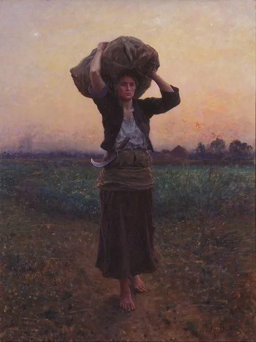 梵高走了85英里专门去拜访他 法国布雷顿(1827-1906)插图25
