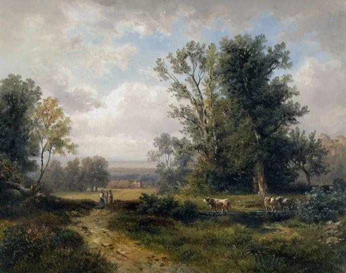 梵高走了85英里专门去拜访他 法国布雷顿(1827-1906)插图45