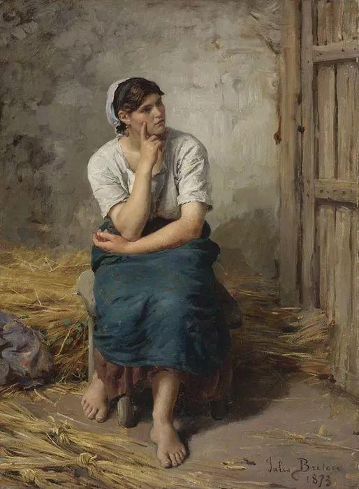梵高走了85英里专门去拜访他 法国布雷顿(1827-1906)插图51