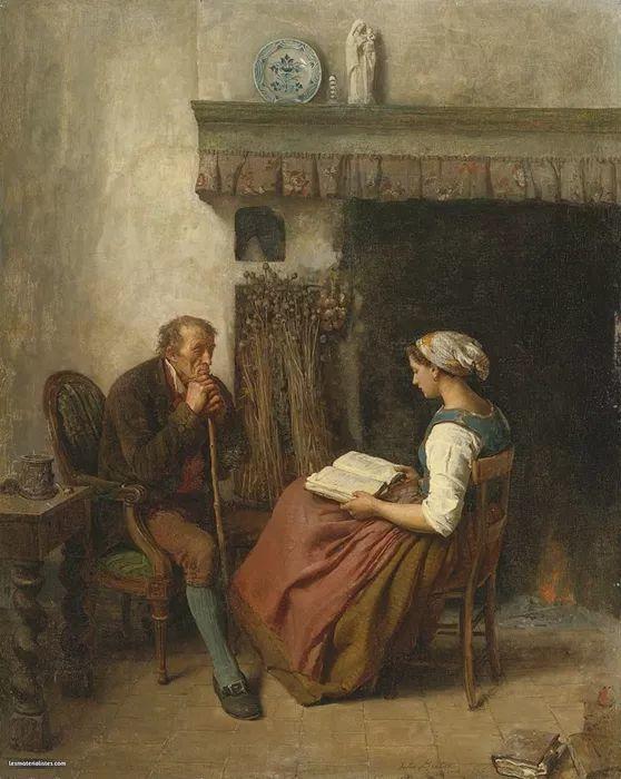 梵高走了85英里专门去拜访他 法国布雷顿(1827-1906)插图59