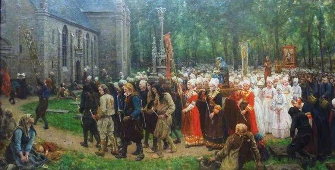 梵高走了85英里专门去拜访他 法国布雷顿(1827-1906)插图65