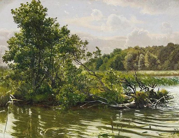 丹麦画家Vilhelm Peter Karl Kyhn(1819-1903)插图47