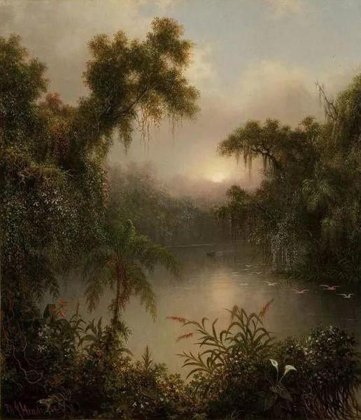风景画 美国画家赫德(1819-1904)插图33