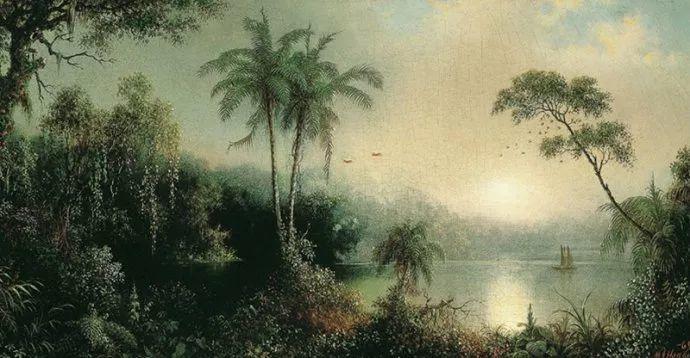 风景画 美国画家赫德(1819-1904)插图37