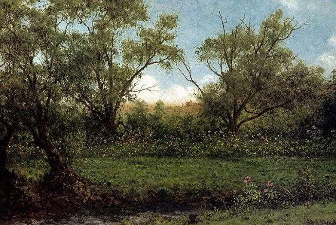 风景画 美国画家赫德(1819-1904)插图49