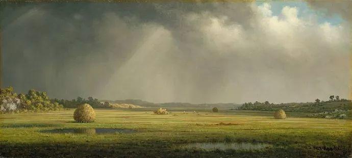 风景画 美国画家赫德(1819-1904)插图53