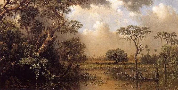 风景画 美国画家赫德(1819-1904)插图61