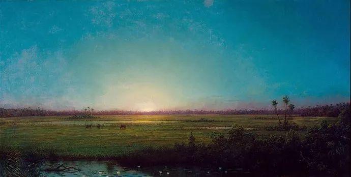 风景画 美国画家赫德(1819-1904)插图63