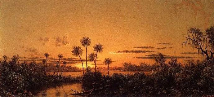 风景画 美国画家赫德(1819-1904)插图65