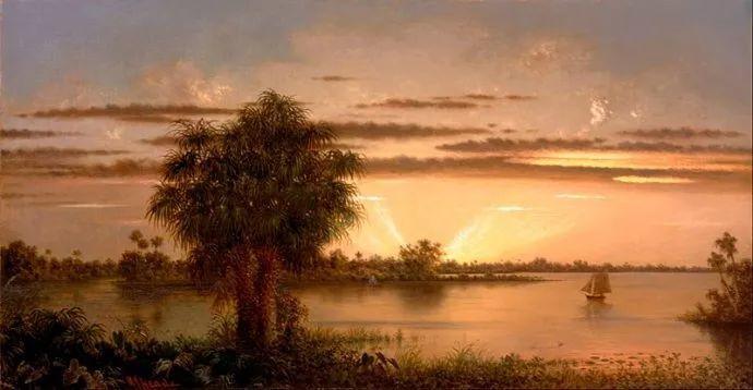 风景画 美国画家赫德(1819-1904)插图67