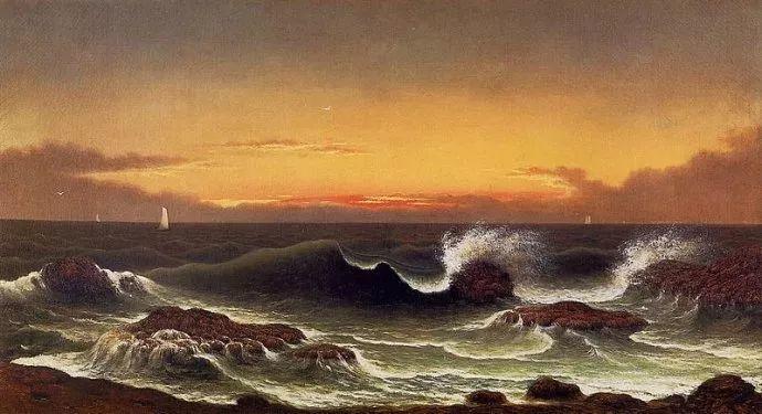风景画 美国画家赫德(1819-1904)插图77