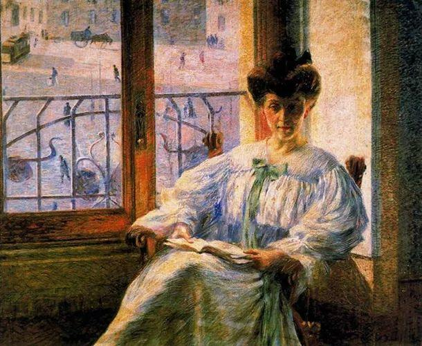 意大利未来派中最著名画家波丘尼(1882-1916)插图7