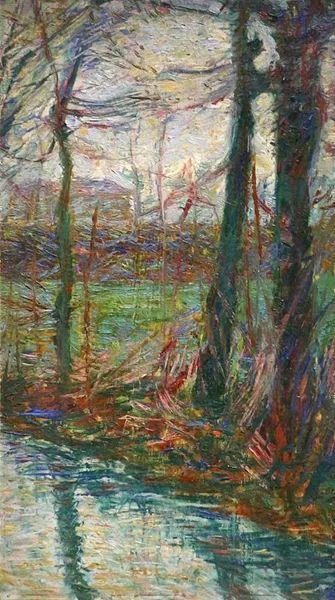 意大利未来派中最著名画家波丘尼(1882-1916)插图11