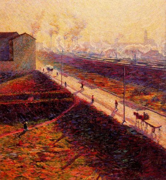 意大利未来派中最著名画家波丘尼(1882-1916)插图21