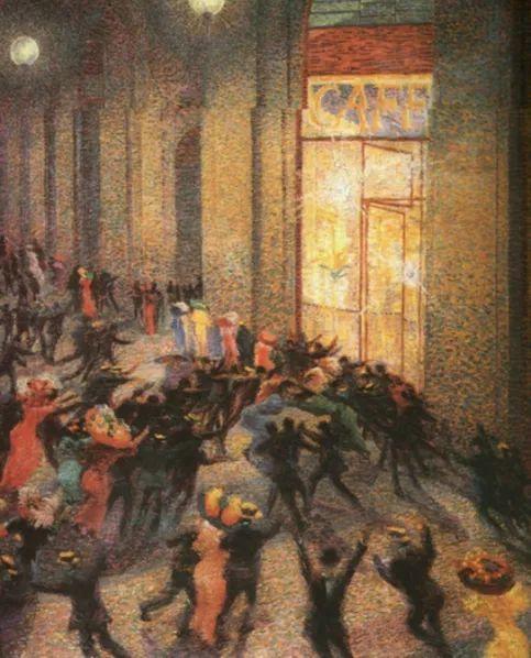 意大利未来派中最著名画家波丘尼(1882-1916)插图23