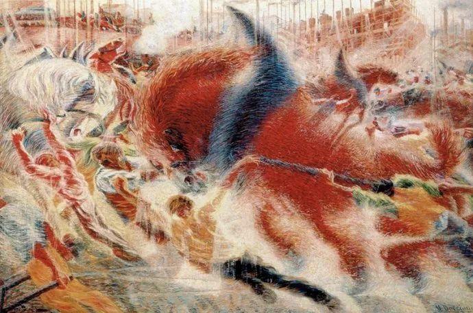 意大利未来派中最著名画家波丘尼(1882-1916)插图29