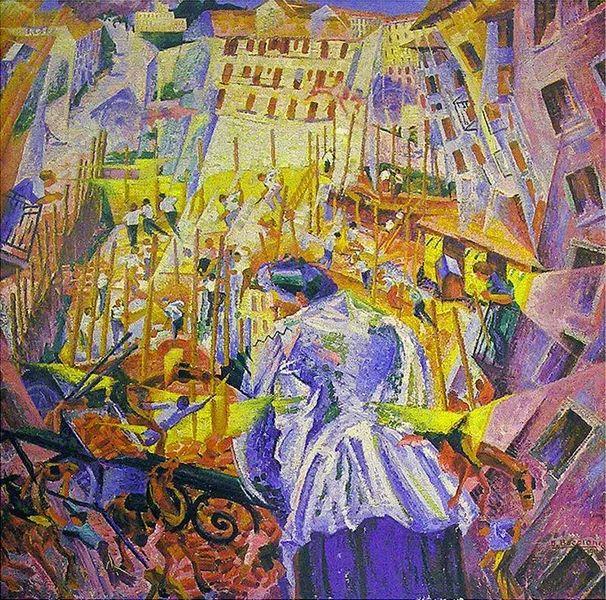 意大利未来派中最著名画家波丘尼(1882-1916)插图31