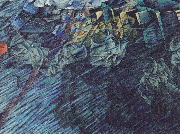 意大利未来派中最著名画家波丘尼(1882-1916)插图39