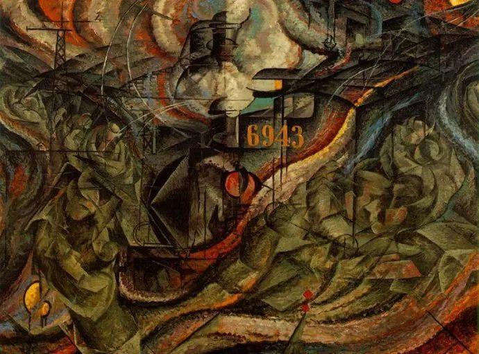 意大利未来派中最著名画家波丘尼(1882-1916)插图41