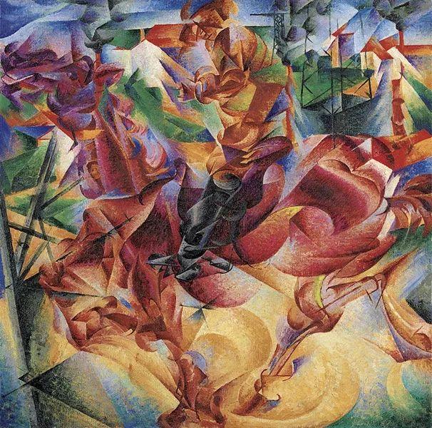 意大利未来派中最著名画家波丘尼(1882-1916)插图49