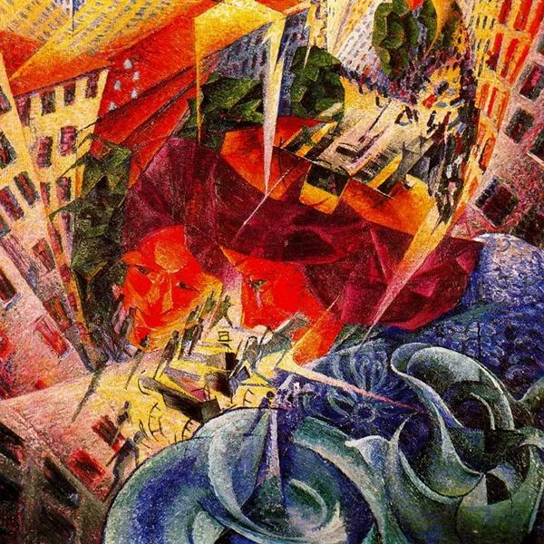 意大利未来派中最著名画家波丘尼(1882-1916)插图51