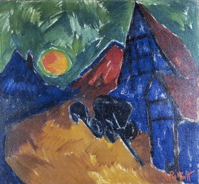 表现主义 德国画家罗特鲁夫(1884-1976)插图13