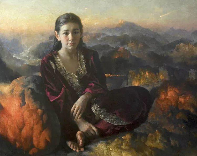 人物油画 乌兹别克斯坦Arsen Kurbanov作品插图3