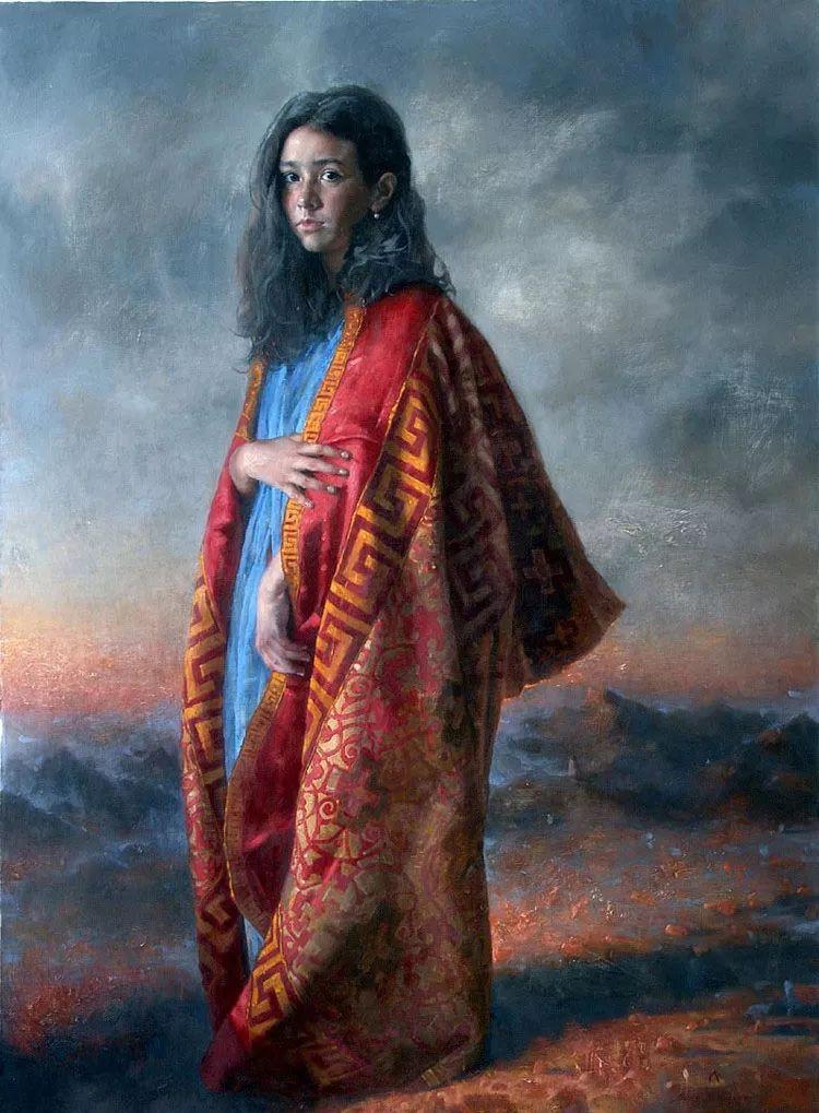 人物油画 乌兹别克斯坦Arsen Kurbanov作品插图6